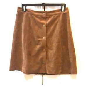 Aritzia Centinela Faux Suede Skirt